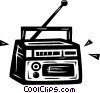 Vector Clip Art image  of a radio
