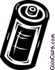 Vector Clip Art image  of a battery