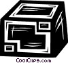 shipping crate Vector Clipart illustration
