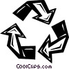 Vector Clip Art image  of a recycle sign