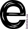 Vector Clip Art graphic  of a letter e