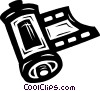 film roll Vector Clipart picture