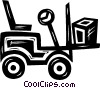 Vector Clip Art image  of a forklift