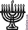 Vector Clipart picture  of a menorah