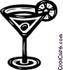Vector Clipart picture  of a martini