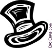 top hat Vector Clipart picture