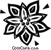 Vector Clipart picture  of a poinsettia