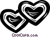 Vector Clipart image  of a hearts/valentines day