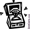Vector Clip Art image  of a diamond ring