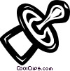 Vector Clip Art graphic  of a pacifier