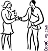 Vector Clipart image  of a Business people shaking hands