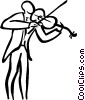 Vector Clipart illustration  of a violinist
