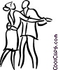couple dancing Vector Clipart illustration