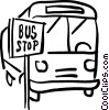 bus st the bus stop Vector Clip Art picture