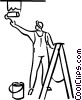 Vector Clip Art graphic  of a painters painting