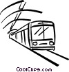 Vector Clipart image  of a subway train