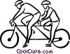 Vector Clipart graphic  of a two person bicycle