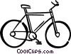 Vector Clip Art graphic  of a 10 speed bicycle