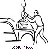 Vector Clipart illustration  of an automotive worker