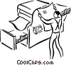 Vector Clipart picture  of a printing press