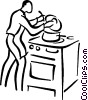 Vector Clipart graphic  of a cook