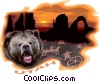 Vector Clip Art graphic  of a Utah