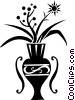 Vector Clip Art image  of a flowers in a vase