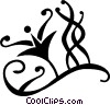 Vector Clip Art image  of a vines