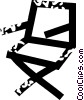 Vector Clipart graphic  of a directors chair
