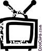 television Vector Clipart illustration