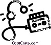 Vector Clip Art picture  of a personal stereo