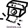 Polaroid camera Vector Clipart graphic