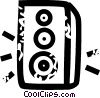 Vector Clip Art graphic  of a speaker