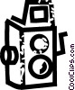 Vector Clipart illustration  of a early camera