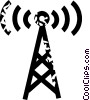 radio tower Vector Clipart illustration