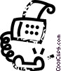 Vector Clip Art image  of a fax\phone