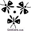 butterflies Vector Clipart image