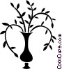 Vector Clip Art picture  of a plant in a vase