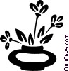 potted plant Vector Clipart picture