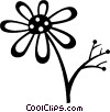 Vector Clipart graphic  of a daisy