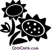 sunflowers Vector Clipart graphic