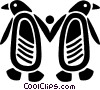 Vector Clipart graphic  of a penguins