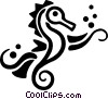 Vector Clip Art image  of a sea horses