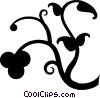 Vector Clip Art graphic  of a decorative floral design