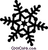Vector Clipart picture  of a snowflake