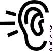 human ear Vector Clip Art picture