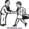 Vector Clipart picture  of a business people shaking hands