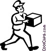 Vector Clipart image  of a delivery man