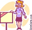 Vector Clipart image  of a real estate agent