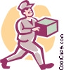 Vector Clipart graphic  of a delivery man